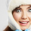 Young woman in winter hat — Stock Photo #37939995