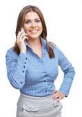 Mujer con teléfono — Foto de Stock