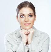 Retrato de mujer de negocios de sonreír — Foto de Stock