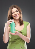 Woman with cream — Stockfoto