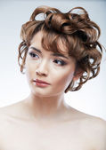 Beauty face of young woman — Stock Photo
