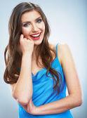 Jovem mulher sorridente. — Foto Stock