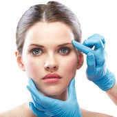 Beauty Woman face surgery — Stock Photo