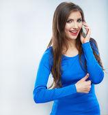 Mujer joven llamada — Foto de Stock
