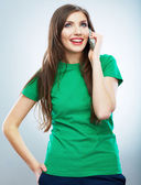 Young woman phone call — Stock Photo