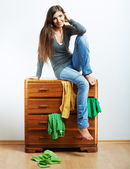 Teenager girl portrait at home. — Stock Photo