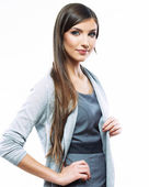 Beautiful young long haired business woman — Stock Photo