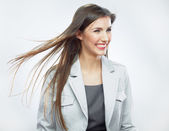 Business woman with hair in motion. — Stock Photo