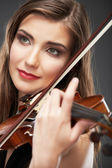 Woman with violin — Stock Photo