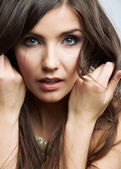 Woman face beauty portrait. — 图库照片