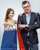 Shopping couple — Foto Stock