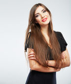 Young beauty model with long hair — Stock Photo