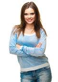 Retrato de joven mujer casual — Foto de Stock