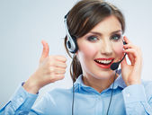 Call center operator. — Stock Photo