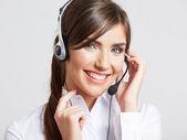 女客户服务职工 — 图库照片