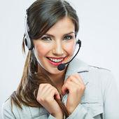 Operatore di sostegno di cliente — Foto Stock