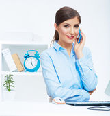 Call center operator at work — Stock Photo