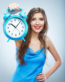 Woman hold watch — Stock Photo