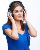 Musica de mulher. — Fotografia Stock