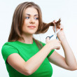 Womwith scissor — Stock Photo #38969773
