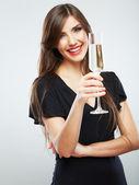 Celebrating woman — Stock Photo