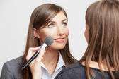 Business woman with make up — Stockfoto