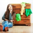 Stock Photo: Womand cupboard