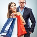 Shopping couple — Stock Photo