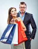 Shopping par — Stockfoto