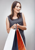 Woman hold shopping bag — ストック写真