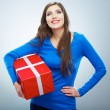 Woman hold gift box — Stock Photo #39459443