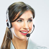Customer support operator close up portrait. — 图库照片