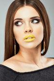 Close up female model portrait. — Foto de Stock