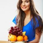 Постер, плакат: Woman diet food