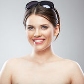 Beauty woman with toothy smiling — Stock Photo