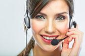 Customer support operator. — Stock Photo