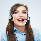Woman call center operator. — Stock Photo