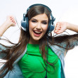 Woman with headphones listening music — Stock Photo #39788831