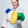 Woman hold shopping bag with clothes. — Stock Photo #39788921