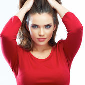 Woman hair beauty portrait. — Stockfoto