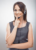 Woman customer service worker — Stock Photo