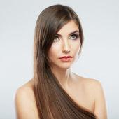 Cheveux style fashion femme portrait. — Photo