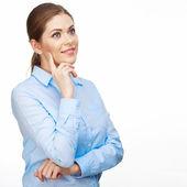 улыбается женщина бизнес — Стоковое фото