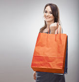 Woman hold shopping bag. — ストック写真
