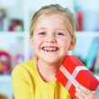 Stock Photo: Girl hold gift