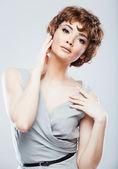 Fashion model isolated portrait . — Photo