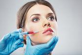 美しさの女性の顔の手術 — 图库照片