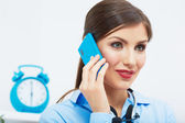 Business woman on phone — Stock Photo