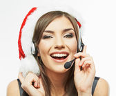 Christmas Santa woman — Stock Photo