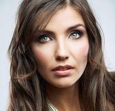 Woman face close up beauty portrait. — Stock Photo